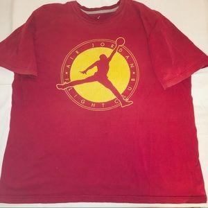 Nike Air Jordan Jump Man T Shirt Red XXL